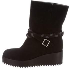 Ritch Erani NYFC Suede Wedge Ankle Boots w/ Tags