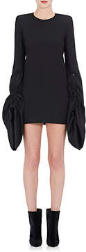 Saint Laurent Women's Wool Oversized-Sleeve Minidress
