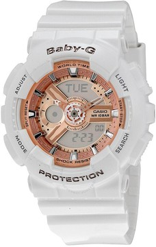 Casio Baby G White Resin Ladies Watch
