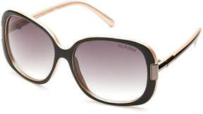 Tommy Hilfiger Black Janet XL Square Sunglasses