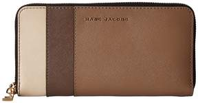 Marc Jacobs Saffiano Color Blocked Standard Continental Wallet Wallet Handbags - FRENCH GREY MULTI - STYLE