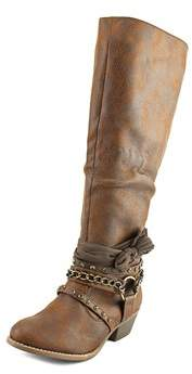 Not Rated Tulia Women Round Toe Synthetic Tan Boot.
