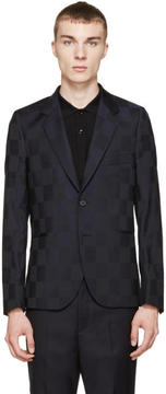 Paul Smith Black and Navy Check Blazer