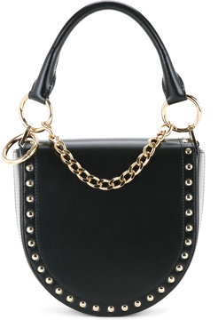 Sacai studded half moon shoulder bag