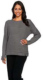 Cuddl Duds As Is Cuddle Duds Fleecewear Stretch Lounge Long Sleeve Pullover Top