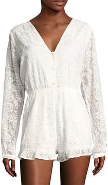 6 Shore Road Women's Earlybird Cotton Lace Romper