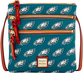 Dooney & Bourke As Is NFL Eagles Triple Zip Crossbody - ONE COLOR - STYLE