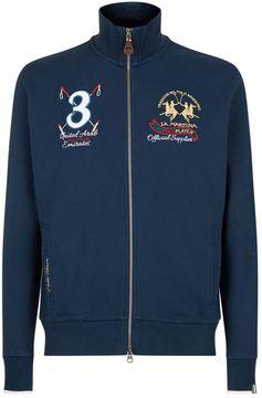 La Martina Full Zip Crest Sweatshirt