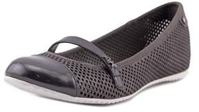 Anne Klein Womens Zariel Leather Closed Toe Mary Jane Flats.