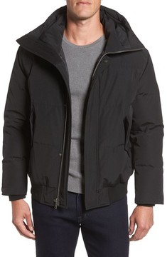 Cole Haan Men's Hooded Down & Feather Fill Bomber Jacket