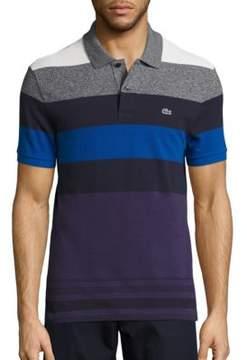 Lacoste Short Sleeve Bold Stripe Pique Polo