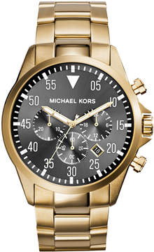 MICHAEL Michael Kors 45mm Gage Men's Chronograph Watch, Gold