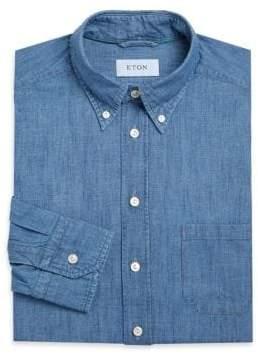 Eton Slim-Fit Heathered Dress Shirt