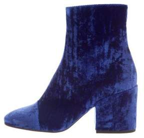 Dries Van Noten Velvet Ankle Boots w/ Tags