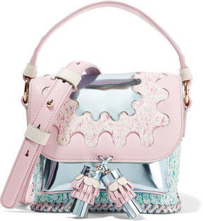Sophia Webster - Claudie Wiggle Leather And Calf Hair Shoulder Bag - Baby pink