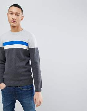 Esprit Organic Sweater With Chest Stripe