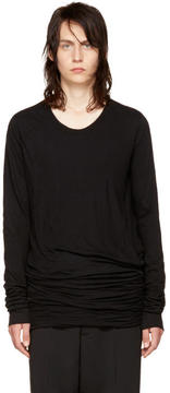 Rick Owens Black Long Sleeve Double T-Shirt