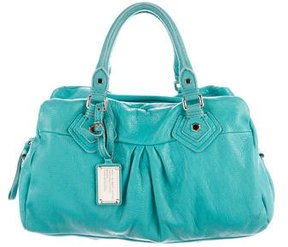 Marc by Marc Jacobs Pebbled Leather Satchel - GREEN - STYLE