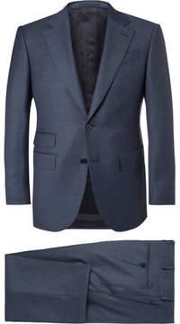 Ermenegildo Zegna Blue End-On-End Wool Suit