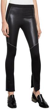 BCBGMAXAZRIA Seth Faux-Leather Moto Legging