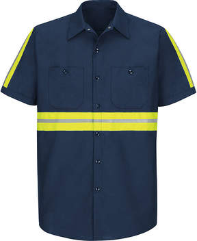 JCPenney Red Kap Short Sleeve Visibility Shirt