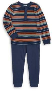 Splendid Little Boy's Two-Piece Striped Jersey & Elasticized Pants Set
