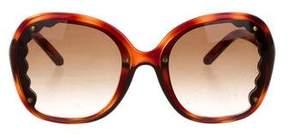 Chloé Tortoiseshell Round Sunglasses