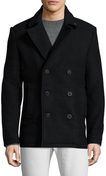 Farah Men's Kenton Solid Peacoat