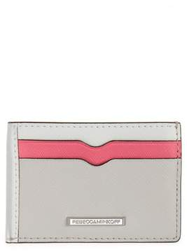 Rebecca Minkoff Metro Leather Card Case - PINK - STYLE