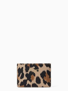 Kate Spade Hyde lane leopard-print card holder - CLASSIC CAMEL MULTI - STYLE
