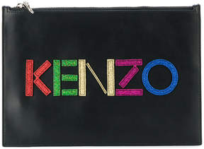 Kenzo Christmas logo pouch
