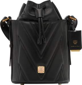 MCM Lena Drawstring In Quilted Calfskin
