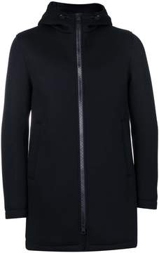 Herno hooded long length jacket