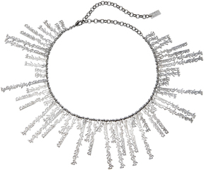 Fallon Hieroglyph Silver-Tone Collar Necklace