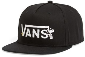 Vans Men's X Peanuts Snapback Ball Cap - Black