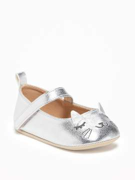 Old Navy Metallic Critter Ballet Flats for Baby