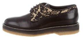 Etro Leather Round-Toe Oxfords