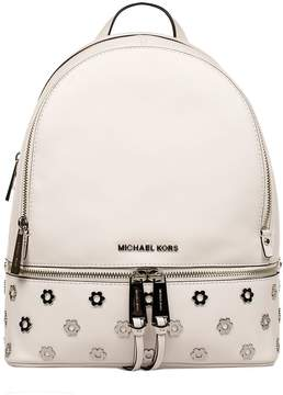 Michael Kors White Rhea Hammered Leather Backpack - BIANCO - STYLE