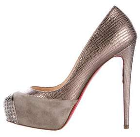 Christian Louboutin Embossed Leather Platform