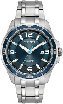 Citizen Mens Silver Tone Bracelet Watch-Bm6929-56l