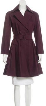 Alaia Wool Fit & Flare Trench Coat