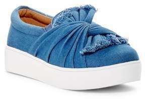 Catherine Malandrino Drapie Twist Slip-On Platform Sneaker