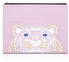 Kenzo Women's Pink Canvas Clutch.