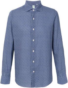 Finamore 1925 Napoli geometric print button-down shirt