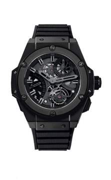 Hublot King Power Tourbillon GMT Skeleton Dial Ceramic Automatic Men's Watch