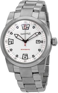 Co Eberhard And Scafomatic Automatic White Dial Men's Watch