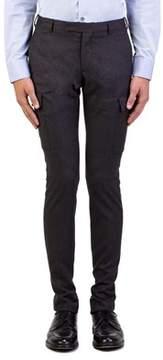 Christian Dior Men's Wool Slim Fit Cargo Dress Trousers Pants Grey.