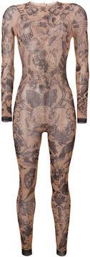 DSQUARED2 tattoo print bodysuit