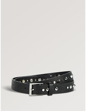 Zadig & Voltaire Diamond buckle leather belt