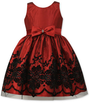 Jayne Copeland Glitter-Flocked Gown, Little Girls (4-6X)